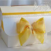 Свадебный салон ручной работы. Ярмарка Мастеров - ручная работа Сундучок для денег  в лимонном цвете. Handmade.