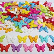 Материалы для творчества ручной работы. Ярмарка Мастеров - ручная работа Пуговицы-бабочки на 2 прокола. Handmade.