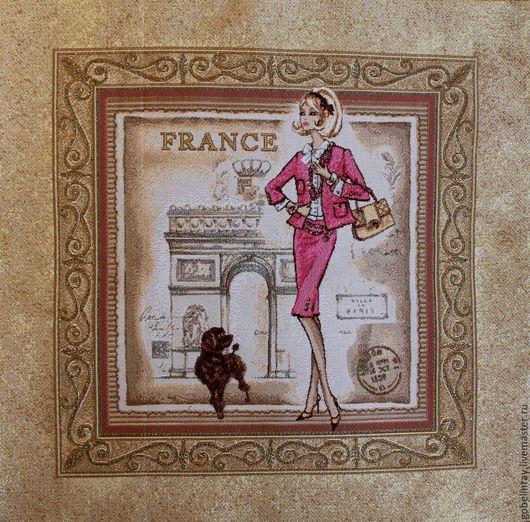 Шитье ручной работы. Ярмарка Мастеров - ручная работа. Купить Багет Франция роз.: гобеленовая заготовка без оверлока, 50-50 см. Handmade.