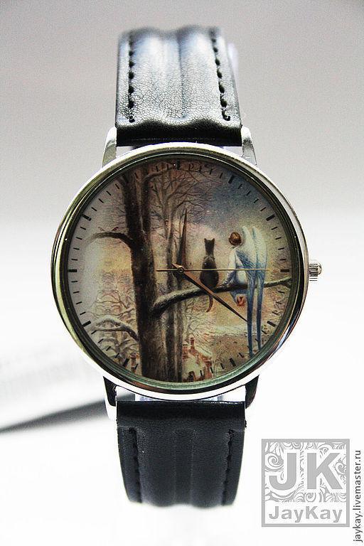 """Часы ручной работы. Ярмарка Мастеров - ручная работа. Купить Наручные часы JK """"Кот и ангел"""". Handmade. Наручные часы"""