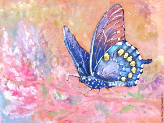 Картина`Легкость порхающей бабочки...`(акварель,графика);Катерины Аксеновой. купить картину с бабочкой     купить картину в москве     купить картину с цветами     купить картину пейзаж     карти