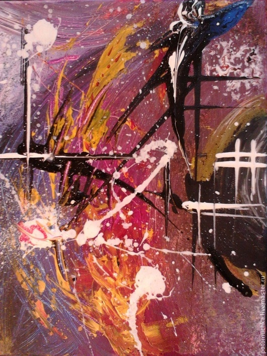 Абстракция ручной работы. Ярмарка Мастеров - ручная работа. Купить Версия. Handmade. Абстрактная живопись, абстрактная картина, картина в подарок