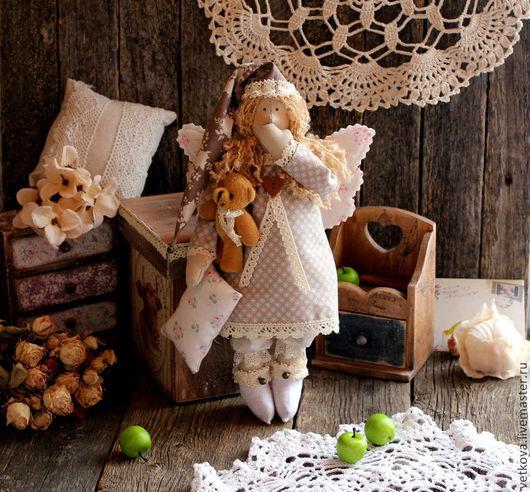 Куклы Тильды ручной работы. Ярмарка Мастеров - ручная работа. Купить Сонный ангел тильда текстильная интерьерная кукла. Handmade.