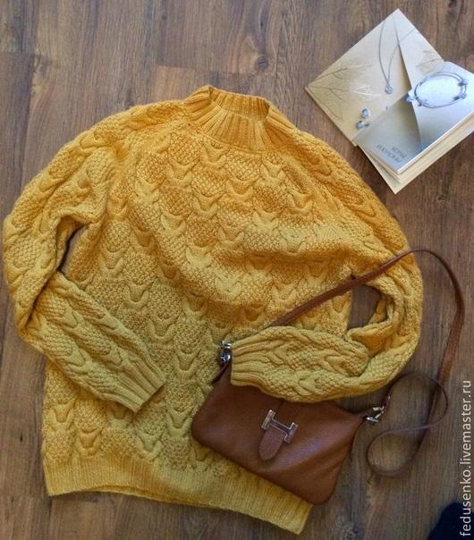 Кофты и свитера ручной работы. Ярмарка Мастеров - ручная работа. Купить свитер желтый sweet pumpkin. Handmade. Однотонный
