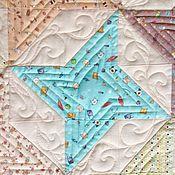 Для дома и интерьера ручной работы. Ярмарка Мастеров - ручная работа Лоскутное стеганое детское одеяло из хлопка Зефир 130х100. Handmade.