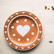 Посуда handmade. Livemaster - original item Sugar sedlecky. Food plate, ceramics.. Handmade.