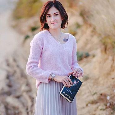 Одежда ручной работы. Ярмарка Мастеров - ручная работа Пуловер из альпаки на шёлке.Возможен повтор в другом цвете.. Handmade.