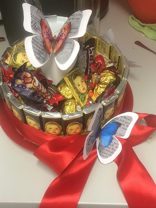 Персональные подарки ручной работы. Ярмарка Мастеров - ручная работа. Купить Торт на заказ. Handmade. Торт, торт из конфет