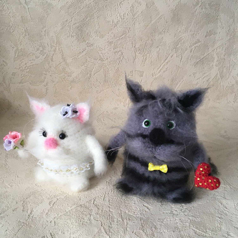 Свадебные котики!!!, Мягкие игрушки, Шарыпово,  Фото №1