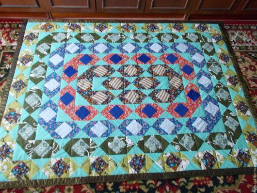 """Текстиль, ковры ручной работы. Ярмарка Мастеров - ручная работа. Купить Лоскутное покрывало """"Ожерелье"""". Handmade. Комбинированный, покрывало на кровать"""