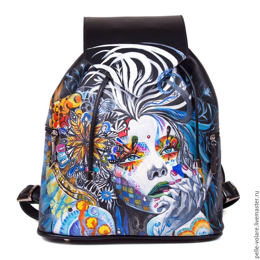 Womens leather backpack 'what dreams may come', Backpacks, St. Petersburg,  Фото №1