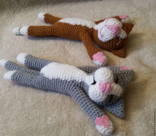 Вязание ручной работы. Ярмарка Мастеров - ручная работа. Купить Мастер-класс Спящий котик. Handmade. Кот, коты