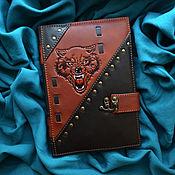 "Канцелярские товары handmade. Livemaster - original item Leather notebook ""BEAST OF PREY"". Handmade."