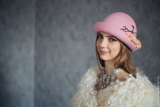 """Шляпы ручной работы. Ярмарка Мастеров - ручная работа. Купить шляпка валяная """" Монолог розы"""". Handmade. Валяная шляпка"""