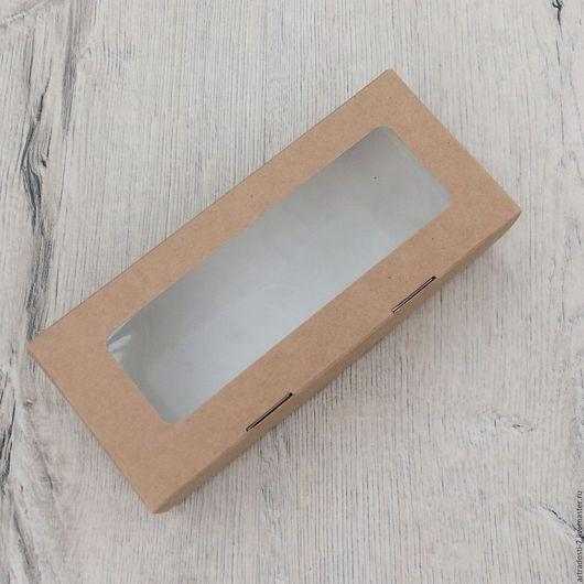 Упаковка ручной работы. Ярмарка Мастеров - ручная работа. Купить Коробка с прозрачным окошком 17 х 7 х 4.3 см. Handmade.