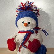 Куклы и игрушки ручной работы. Ярмарка Мастеров - ручная работа Снеговик - вязаная игрушка. Handmade.