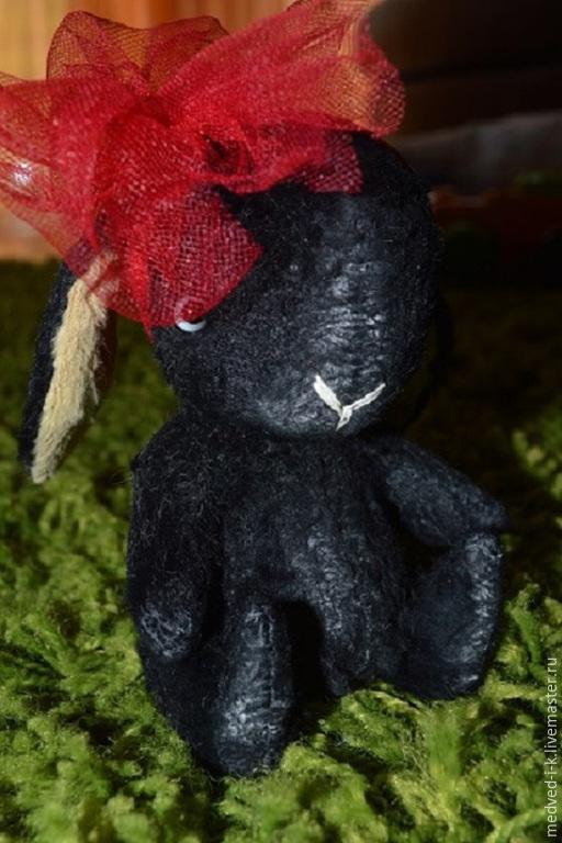 Мишки Тедди ручной работы. Ярмарка Мастеров - ручная работа. Купить Заяц НеАнгел..... Handmade. Черный, зайчик, кролик тедди