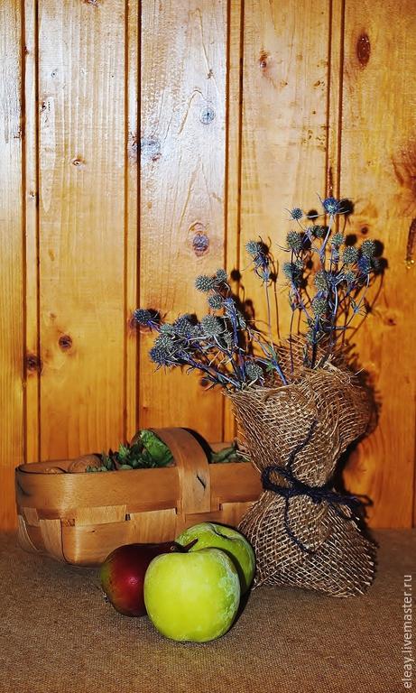 Вазочка с сухоцветами