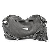 Сумки и аксессуары handmade. Livemaster - original item Crossbody Bag Suede Grey Bag with Shoulder Strap Head. Handmade.
