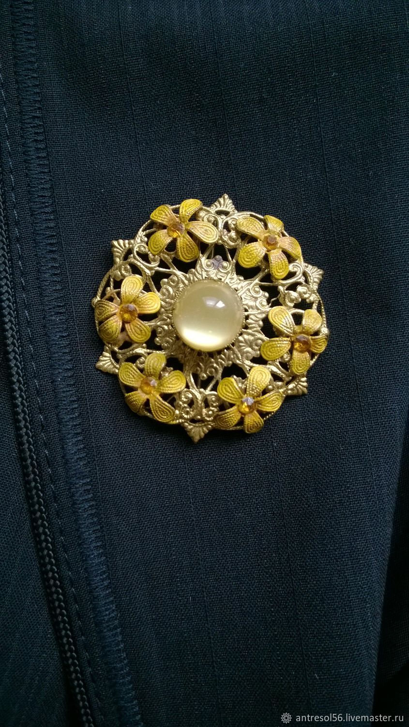 Brooch 'Daffodils', Vintage brooches, Orenburg,  Фото №1