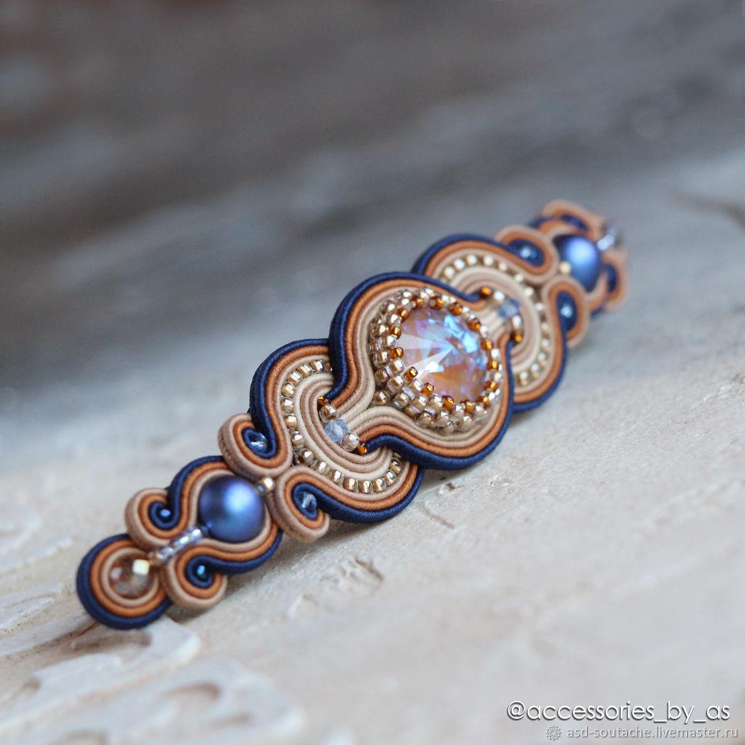Заколка для волос Карамель. Синий горчичный, Заколки, Оренбург,  Фото №1