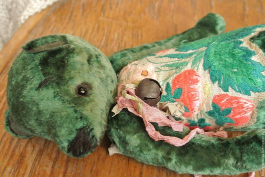 Мишки Тедди ручной работы. Ярмарка Мастеров - ручная работа. Купить Мишка Mr Green. Handmade. Тёмно-зелёный, плюш