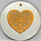 """Сувениры и подарки ручной работы. Ярмарка Мастеров - ручная работа Сувенир на зеркале """"Сердце"""". Handmade."""