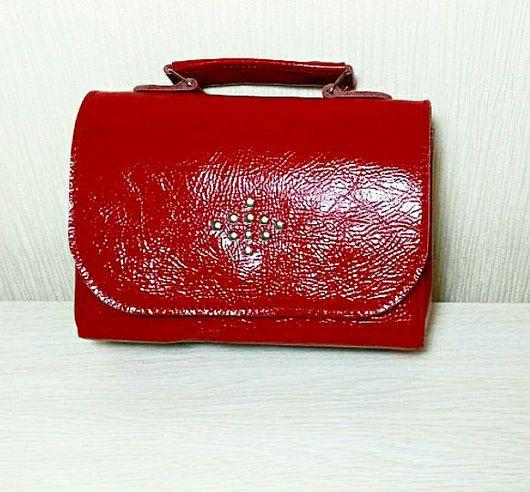 Женские сумки ручной работы. Ярмарка Мастеров - ручная работа. Купить Миниатюрная сумочка Красная из кожи наппа. Handmade.