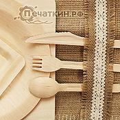 Наборы посуды ручной работы. Ярмарка Мастеров - ручная работа Одноразовые приборы из дерева. Handmade.
