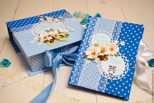 Подарки для новорожденных, ручной работы. Ярмарка Мастеров - ручная работа. Купить Мамины сокровищница и заметки. Handmade. Тёмно-синий