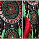 Ловцы снов ручной работы. Dreamcatcher red green mosaic Dream Catcher Large Dreamcatcher. Anna Bijouterie (AnnaBijouterie). Ярмарка Мастеров.