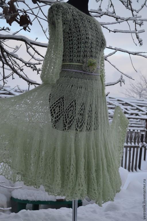 Одежда. Платья. Платье вязаное. Ярмарка мастеров- ручная работа. Платье ручной работы. Платье коктейльное.  Одежда. Платье вязаное `Метелица` купить. Handmade. Магазин  мастера Доминика.