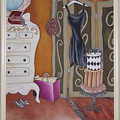"""Картины и панно ручной работы. Ярмарка Мастеров - ручная работа Панно """"Французский будуар с ширмой"""". Handmade."""