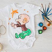 Одежда handmade. Livemaster - original item t-shirt/bodysuit baby Monkey. Handmade.
