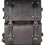 """Сумки и аксессуары handmade. Livemaster - original item Мужской кожаный рюкзак """"Легион"""" черный. Handmade."""