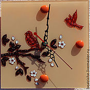 """Для дома и интерьера ручной работы. Ярмарка Мастеров - ручная работа Часы- триптих """"Весне-дорогу!"""". Handmade."""