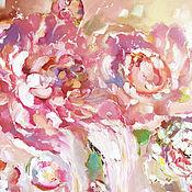 Картины и панно handmade. Livemaster - original item Cream petal - painting on canvas. Handmade.