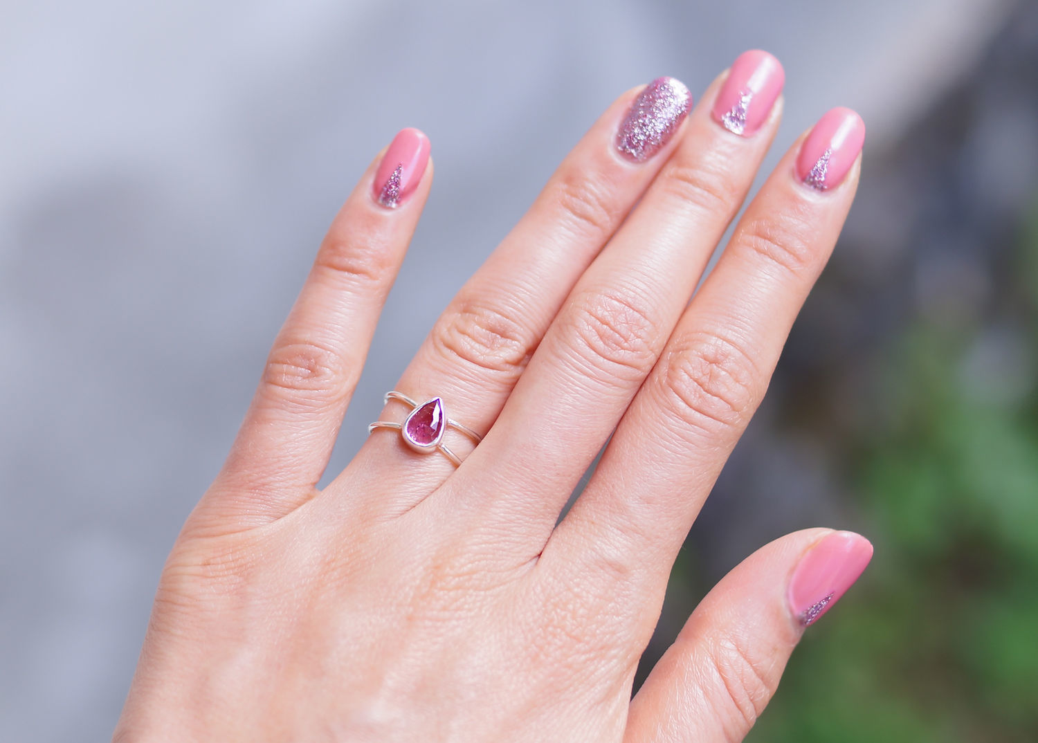 Infinity ring with pink tourmaline, Rings, Moscow,  Фото №1