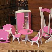 Куклы и игрушки ручной работы. Ярмарка Мастеров - ручная работа набор кукольной мебели. Handmade.