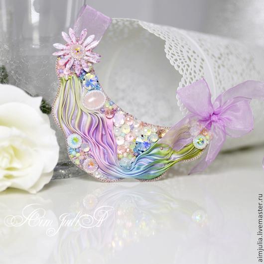 """Колье, бусы ручной работы. Ярмарка Мастеров - ручная работа. Купить Колье """"Зефирные мечты"""". Handmade. Розовый, разноцветный, бусины"""