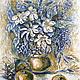 Картина `Кофейный натюрморт` Катерины Аксеновой.  (Кофе,Графика,Натюрморт с фруктами и цветами) картина яблоки натюрморт ,яблоки картина кофе,картина яблоки и цветы графика,картина с цветами и яблок