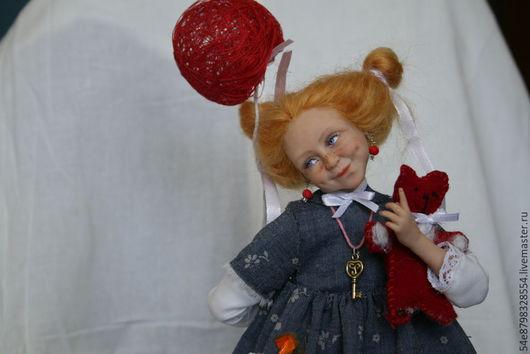 Коллекционные куклы ручной работы. Ярмарка Мастеров - ручная работа. Купить Анфиска. Handmade. Разноцветный, 100% хлопок, кружево