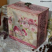 """Для дома и интерьера ручной работы. Ярмарка Мастеров - ручная работа Короб для хранения """"В розовых мечтах"""". Handmade."""