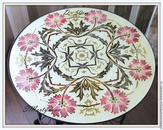 Мебель ручной работы. Ярмарка Мастеров - ручная работа. Купить Журнальный столик - 2. Handmade. Бежевый, интерьер, стекло