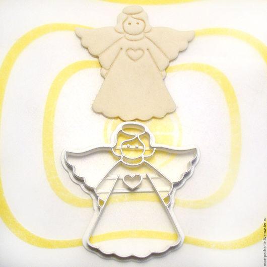 Ангел №2. Вырубка-штамп для пряников, печенья, мастики, поделок из соленого теста. Образец вырубки из соленого теста.