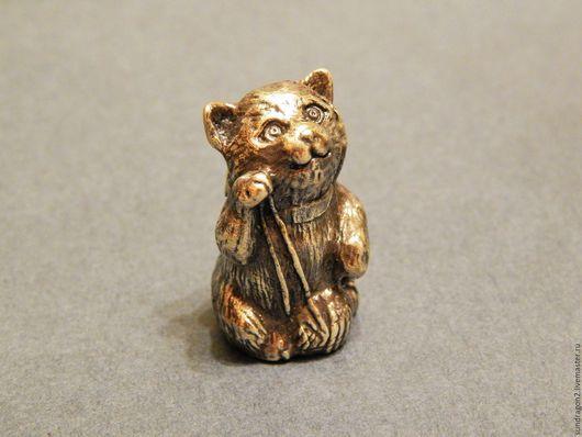 """Колокольчики ручной работы. Ярмарка Мастеров - ручная работа. Купить колокольчик """"Котенок"""" бронза. Handmade. Колокольчик, колокольчик для коллекций, бронза"""