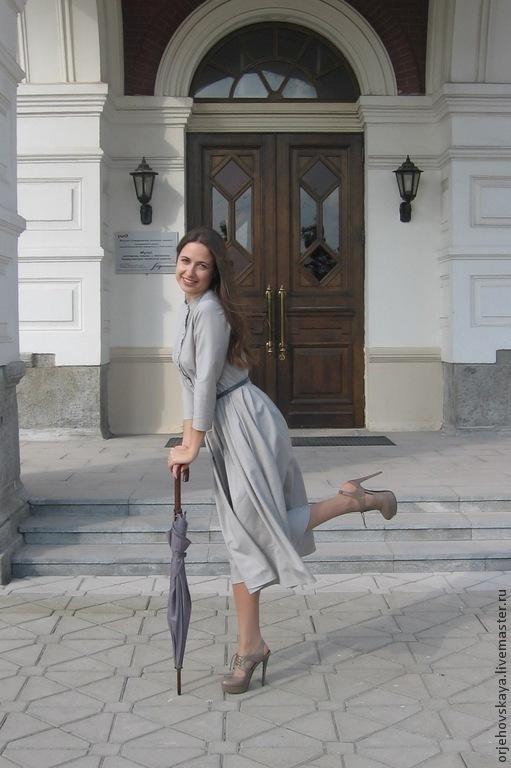 """Платья ручной работы. Ярмарка Мастеров - ручная работа. Купить Платье из шерсти """"Леди Мэри"""". Handmade. Серый, платье из шерсти"""