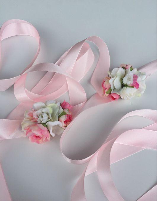 Свадебные украшения ручной работы. Ярмарка Мастеров - ручная работа. Купить Пояс на платье нежно-розовый. Handmade. Пояс