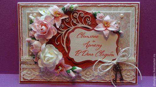 Свадебная открытка `Нежные розы` (1)