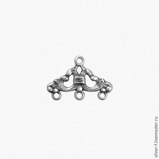Для украшений ручной работы. Ярмарка Мастеров - ручная работа. Купить Коннектор из серебра №5. Handmade. Серебряный, серебро